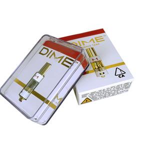 Cartuccia DIME Vape Penna Carrelli 0.8ml Oro Serbatoio olio di ceramica di spessore Coil Svuotare atomizzatore con imballo Box Fit 510 Discussione Batteria