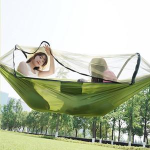 AOTU Balançoire Portable Camping Hamac hamac parachute Lit avec moustiquaire pour camping en plein air AT6757
