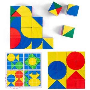 DIY Intelligence Cube Blocks Строительство, Мышление Деревянные Ранние Космические Игра Образовательные Детские Логические Техника Кирпич Подарки Игрушки Детские VLVQJ