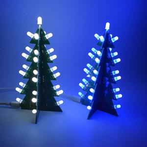 DIY 키트 크리스마스 트리 LED 회로 전자 PCB 보드 모듈 적색 녹색 플래시 라이트 전자 정장 휴일 장식