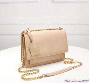 Vannogg Sunset crossbody torbaları 442.906 zincir omuz çantaları hakiki deri kadın çanta cüzdan taşımak poşetin Kürdan desen sığır derisi