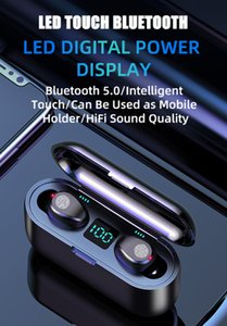 F9 TWS Telefono Bluetooth wireless LED Display digitale Digital Display wireless Bluetooth Cuffie Bluetooth V5.0 AirPods AirPods wireless Auricolari