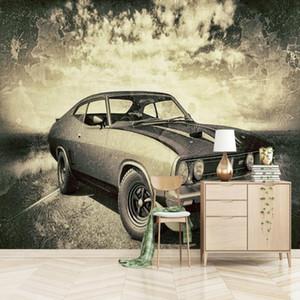 custom Nostalgic car mural wallpaper TV backdrop painting living room bedroom Modern wallpapers Home Decoration