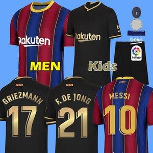 20 21 camiseta de fútbol de Barcelona 2020 2021 ANSU FATI soccer jersey Messi GRIEZMANN DE JONG football shirt camiseta de fútbol camisa de pie