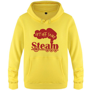Steam hoodies Let off some fleece Cool clothing Warm tops Colorfast print coat Brushed cotton jacket Colorfast sweatshirts CVZL