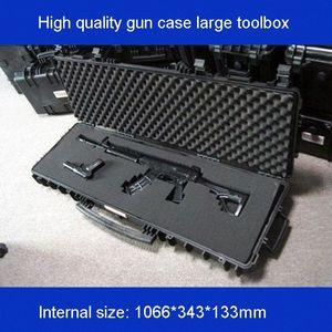 длинный инструмент случай пушки, случай большой набор инструментов Ударопрочный герметичный водонепроницаемый оборудование 88 снайперская винтовка с предварительной резки пенопласта de05 #