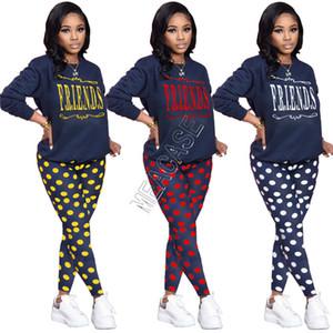 Mulheres Treino Designers Two Piece Outfits manga comprida T-shirt e calças Leggings Sportswear Outono Primavera Roupa Set Corredores D82605 Suit