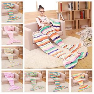 Mermaid Blanket Schlafsack Mermaid Schwanz Decke Nap karierte Decken Bettwäsche Wohnzimmer Decken ohne pillowT2I51409