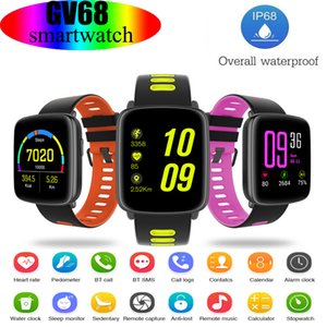 GV68 Smart Watch Bracelet Support Heart Rate Monitor Bluetooth Pedometer Dialing Remote Smartwatch IP68 waterproof For IOS iphone Android