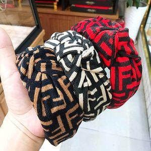 INS filles femmes lettre de velours côtelé bâtons de cheveux de mode bandeau femmes Vintage accessoires de cheveux de marque pour femmes tête groupes B1781