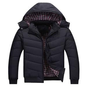 Herren Jacke Klassische unten Winter Outdoor Winter-Thick Jacken Langarm Warming Brief Around Hat kühle Sport-Jacke