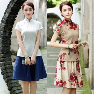 Ja Mejora de la ropa tradicional hecha a mano nostálgica s chaqueta SF1068 chinas mejoró la ropa tradicional hecha a mano nostálgica Top s cheongsam Ko21b