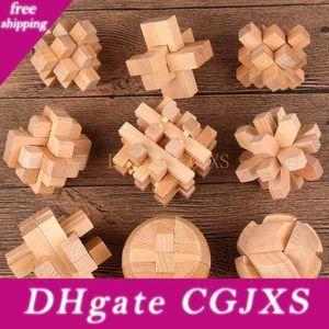 도매 -Puzzles 게임 나무의 중국어 교육 장난감 성인 어린이 지능 교육 퍼즐 잠금 아이 재미 있은 장난감