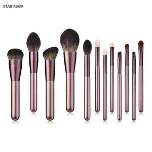 7 8 12 Pcs High-ended Makeup Brushes Set Professional Beauty Purple Cosmetic Tools Kits Face Powder Eyeshadow Blending Brush