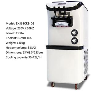 Güçlü Dikey Soft Dondurma Makinesi Soğutma Ice Cream For Ticari Üç Kafalı Dondurma Makinesi