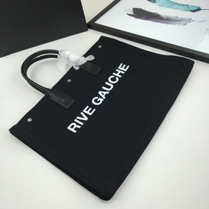 2019 novo estilo de design saco Rive Gauche sacola de compras bolsa de alta qualidade luxo linho praia Malas de viagem tamanho do saco 45 centímetros