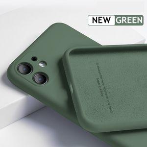 iPhone 12 11 Pro SE 2 케이스 럭셔리 원래 실리콘 전체 보호 Soft Cover for iPhone X XR 11 XS Max 7 8 6 6S 전화 케이스