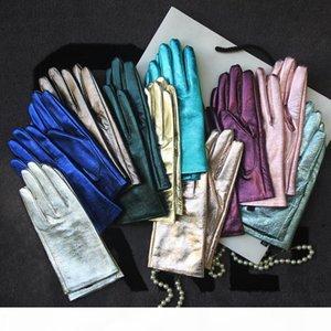 Genuine Leather Gloves for Women Dress collocation New Fashion bright colour Warm Glove Guantes Customsized Luvas WZ0036-1