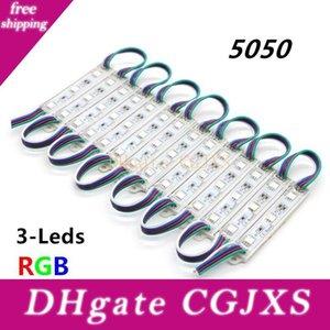 75mm *12mm 5050 Smd 3leds Rgb Led Modules Dc12v Waterproof Ip65 Led Lighting For Signage 5000pcs Big Wholesale