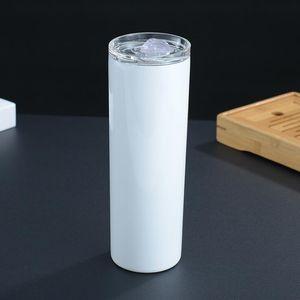 20 Unzen 30 Unzen dünner Tumblers Blank Sublimation dünne Schale Kaffeetasse mit Deckel und Kunststoff Stroh Bierkrüge SEEverschiffen CCA12506