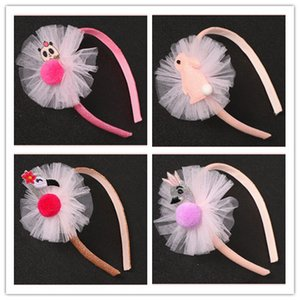 12pcs Fashion Cute Glitter Flamingo Swan Panda Hair Sticks Pom Pom Gauze Floral Hairbands Princess Hair Accessories