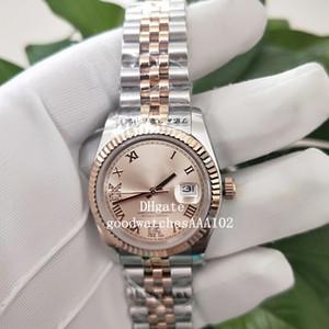 Excelente unisex 126231 12633 36mm18K Rose oro amarillo Dial de acero inoxidable de alta calidad ETA 2813 Movimiento automático del reloj para hombre Watche