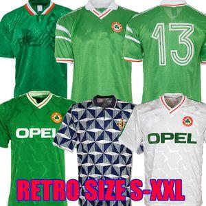 1992 1994 1988 아일랜드 복고풍 축구 유니폼 90 93 94 월드컵 아일랜드 클래식 빈티지 아일랜드어 타운센드 STAUNTON 하우 축구 셔츠 1990