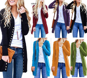 Fashion New Womens Slim Warm Long Sleeve Knit Waterfall Office Jacket Blazer Coat Autumn Tops Covered Button Cardigan Streetwear