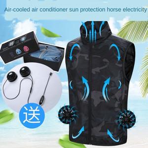 yq2M3 Klima Hava Yaz yelek kamuflaj gelgit Coat şarj fanı akıllı hava qGCiK giyim güneş koruyucu cilt ceket soğutma Soğutma