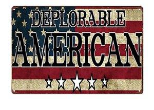 Trump 2020 Tin Sign 20*30 Cm Donald Trump Red Metal Tin Sign Wall Decor Man Cave Bar Keep America Great MAGA