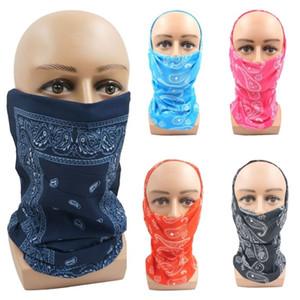 Brand Women Outdoor Use Mask 25*50cm Popular Multifunction Seamless Bandana Headwear Multi Color Paisley Digital Printing Tube Scarf