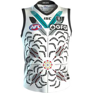 2020 PORT ADELAIDE POWER AFL GUERNSEY INDIGENOUS JERSEY size S-3XL