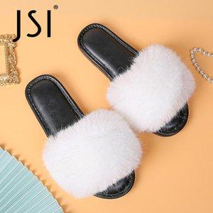 Новая осень зима Европейский Американский стиль моды Тапочки верхней одежды Плюшевые нескользкую обувь комфортно теплые тапочки Розовый T36
