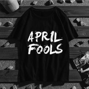April Fools Mulheres Homens de manga curta Harajuku Ullzang Camiseta Estética Anime bonito camiseta Moda Top Tees