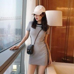 Versátil delgada atractiva del bodycon delgado bajo la manga corta del sabor 2020 de primavera de nuevo y genial vestido de la muchacha vestido de Hong Kong