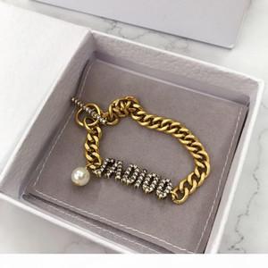 Explosive fashion alphabet diamond designer bracelet luxury designer jewelry women bracelet