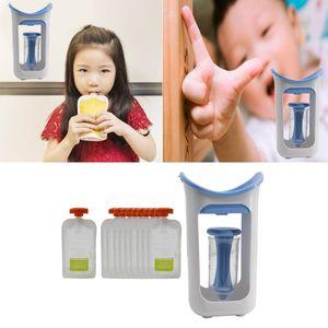 Baby, Kid, Малыш Многоразовые Food соковыжималка с хранением мешочками, Морозильник Сейф, Детское питание Squeeze станция с 10штом Squeezable мешком