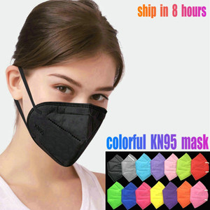 KN95 máscara facial filtro Máscaras reutilizáveis 6layer de protecção de design Rosto na Boca Máscaras crianças Facemask Adulto Preto mascherina DHL atacado