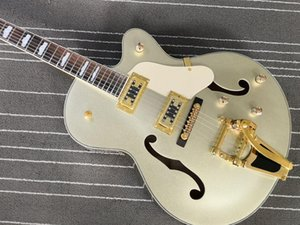 Custom Made Nashville Archtop Guitare électrique Argent Burst Falcons 6120 creux Hardware Or Jazz Body Chine Made Guitars