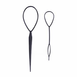 2Pcs / Set выдергивают волосы иглы хвостик волос плетельной Creator Loop Styling Tail зажим для волос Braid Maker Styling DIY Инструменты для парикмахерских