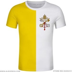 VATICAN CITY STATE t shirt diy free custom made name number vat t-shirt nation flag va latin red country text photo clothes 0924