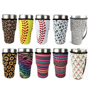 Baseball Reusable Coffee Cup Holder Cactus Water Jacket Cover Neoprene Insulating Cover Cover Case Bag 30oz Tumbler Cup Bag