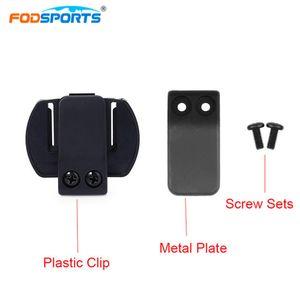 Fodsports V6 Intercom-Zubehör Motorrad-Helm Headset Clip Kopfhörerhalter Motorrad Bluetooth intercomunicador Teile