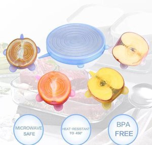 Save Silicone And Heat Food Keeping Fits Of Lids Fresh Resisting All Sizes Food Cover Durable 6pcsset Shapes Reusable Container ISBBo