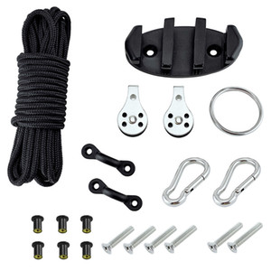 Screws Easy Install Anchor Trolley Kit Kayak Canoe With Pulleys Water Sports