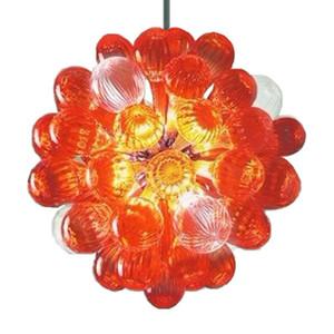 Cor Laranja Luzes Mão bolha de vidro fundido Chandelier 12-16 polegadas Quarto Art Deco LED Luz Pingente pequeno candelabro Lighting-L