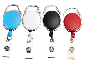 Retractable Pull Key Ring Chain Reel ID Lanyard Name Tag Card Badge Holder Reel Recoil Belt Key Ring Clip FWD924