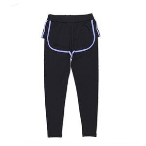 Июнь ЗИМА нового фитнес износ июнь Зимнего спорт спортивной одежда плотно анти-экспозиционной брюки женского быстросохнущий дышащий пот-впитывающий штаны ц