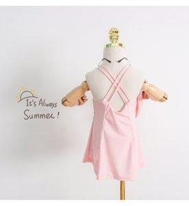 Princesse petite fille de fille coréenne jarretelle séchage rapide jupe jarretelle jupe maillot de bain Sling maillot de bain une pièce de h3Fj1 enfants