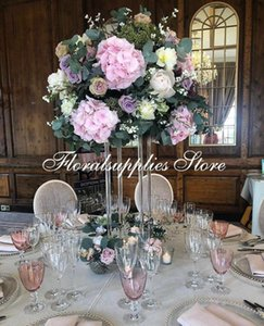 10pcs clear acrylic wedding centerpiece flower vase stand road lead party and event decoration
